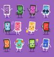 phone emoji gadget character smartphone or vector image vector image