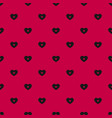 red and black pattern with hearts valentines day vector image