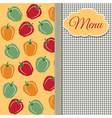 Restaurant menu design with sweet peppers vector image