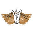 Rock festival Human hand with rock and roll sign vector image vector image