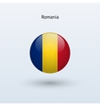 Romania round flag vector image vector image
