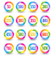 Sale discount percent icons vector image vector image