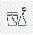 sand bucket concept linear icon isolated on vector image