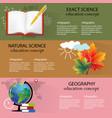 school science backgrounds set vector image vector image