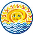 Sea and sun vector image vector image