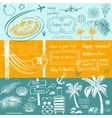 Set of design elements on the subject of travel vector image vector image