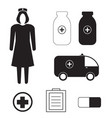 set with medicine icons vector image vector image