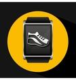smart watch concept shoe run social media vector image vector image