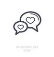 speech bubbles heart icon happy valentines day vector image