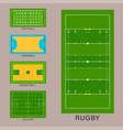 sport game field ground line playground vector image