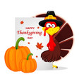 thanksgiving turkey happy thanksgiving day vector image vector image