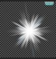 the sun s light effect sun rays vector image vector image