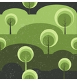 Trees on glade seamless pattern background vector image