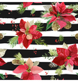 Vintage Poinsettia Flowers Background Seamless vector image vector image