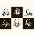 vintage set capital letter g for monograms and vector image vector image