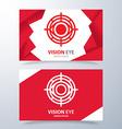 Vision eye symbol icon vector image