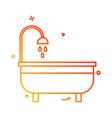 washroom icon design vector image vector image