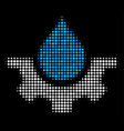 water service halftone icon vector image