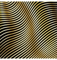 wavy strips golden color on a dark background vector image