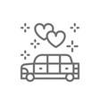 Wedding car limousine service line icon
