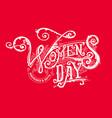 women day logo vector image vector image