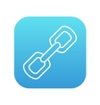 Chain links line icon vector image