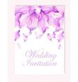Invitation with Watercolor flower petals vector image