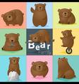 Set of Bear family vector image