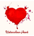 Watercolor heart - vector image
