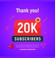 20000 followers post 20k celebration vector image vector image