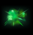 abstract powder splatted background green powder vector image vector image