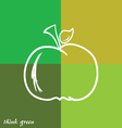 apple and think green vector image
