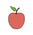 apple delicious fruit vector image