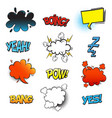 bang comic bubble speech and smash omg and pow vector image vector image