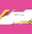 banner web design template pink and yellow vector image vector image
