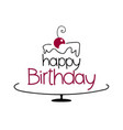 birthday cake drawing vector image vector image