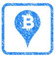 bitcoin marker framed stamp vector image vector image