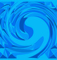 blue wave background template vector image