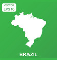 brazil map icon business concept brazil pictogram vector image vector image