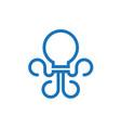 bulb octopus creative flat logo icon vector image vector image