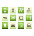 business and office icons over color background vector image vector image