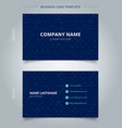 business name card abstract cube pattern on dark vector image