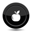 Button with apple vector image vector image