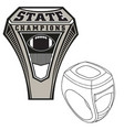 championship state ring vector image vector image