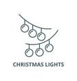 christmas lights line icon christmas vector image