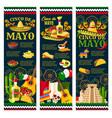 cinco de mayo mexican festival greeting banner vector image vector image