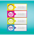 clean modern white infographic banners vector image vector image