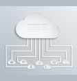cloud network with icons paper economic vector image vector image