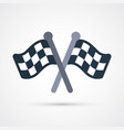 colored racing flags icon eps 10 vector image