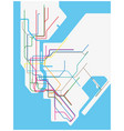 colored subway map of new york city vector image